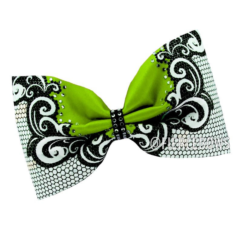 Lace It Up Tailless Rhinestone Bow