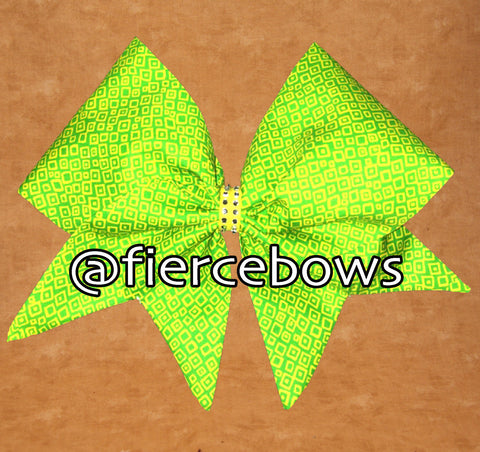 Lemon Lime Hand Sewn Bow
