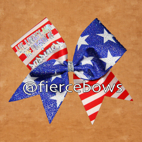 Life, Liberty and the Pursuit of Sassiness Cheer Bow