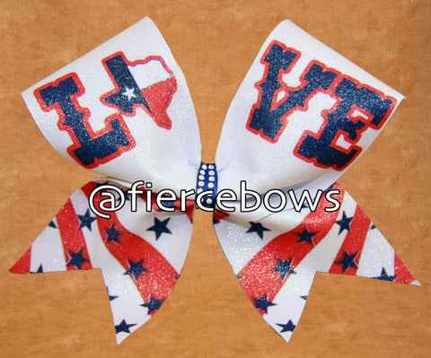 LOVE Texas Sublimated Bow