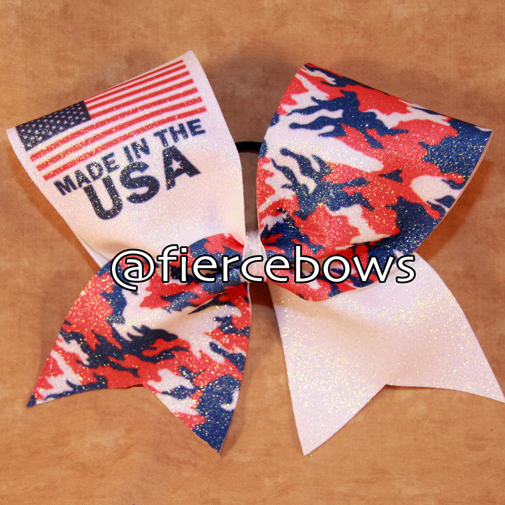 Made in the USA Patriotic Bow