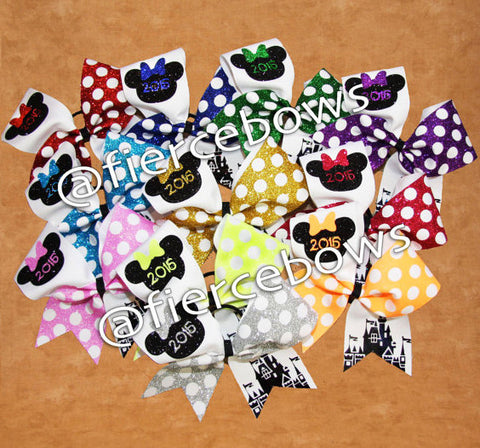 2017 Glitter Polka Dot Event Bow - Choose Your Color