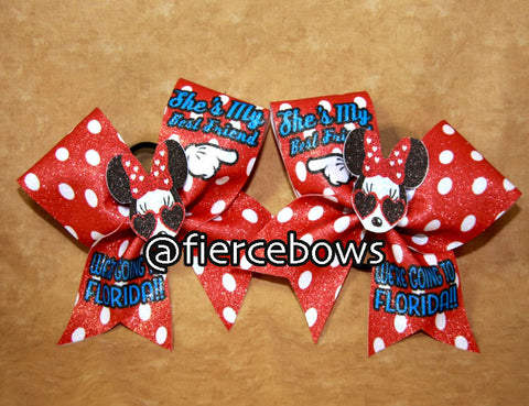 3D Polka Dot Best Friends Bow Set