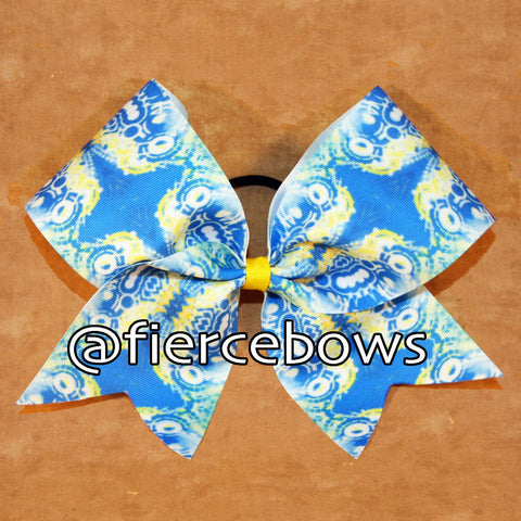 My Hamptons Summer Sublimated Cheer Bow