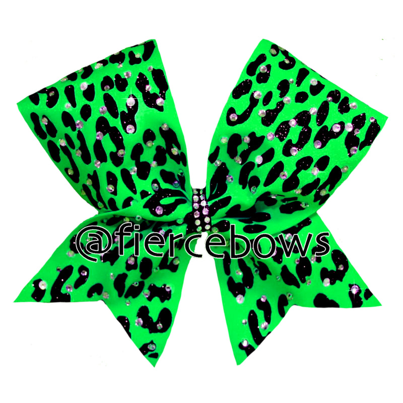 Cheetah Glam Rhinestone Bow