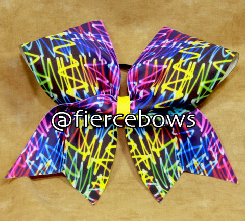 Neon Lights Cheer Bow