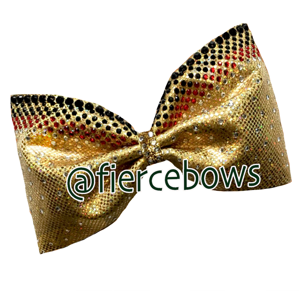 Obsessed Three Color Rhinestone Tailless Bow