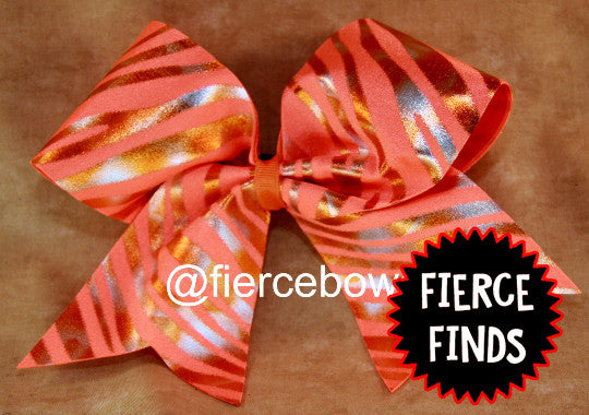 Orange Metallic Zebra Bow