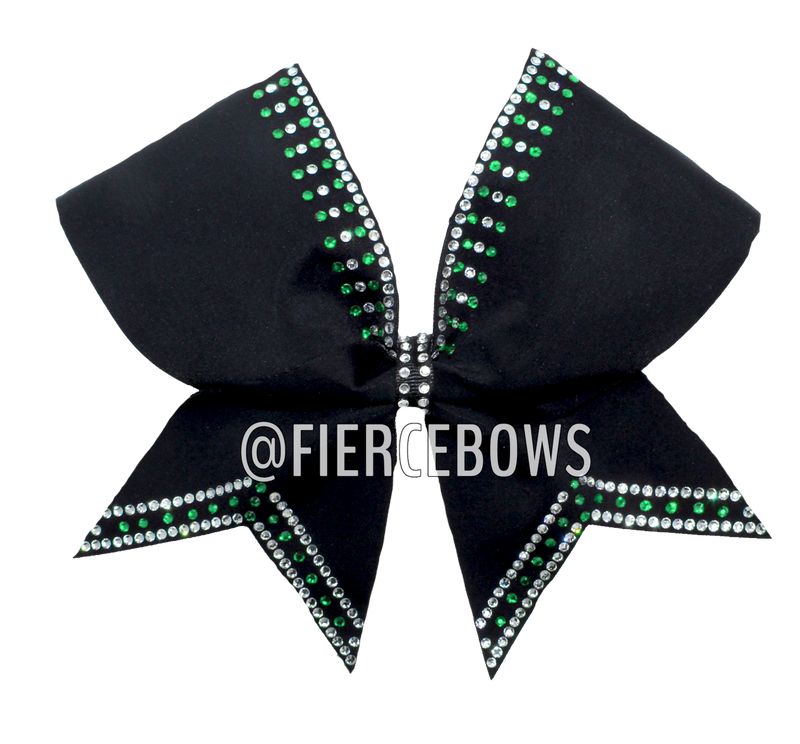 Simply Perfect 2 Color Rhinestone Cheer Bow