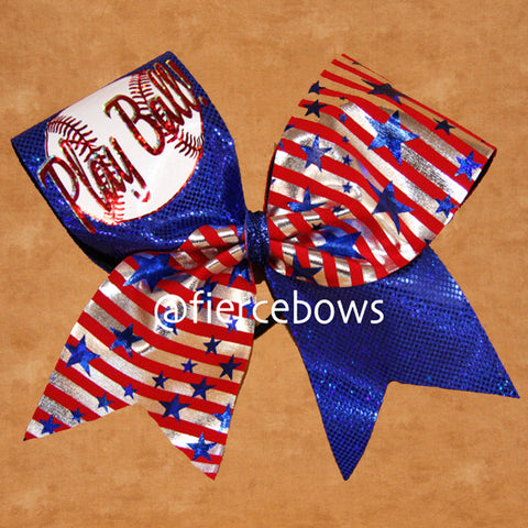Play Ball Softball Bow