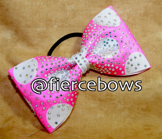 Polka Dot Perfection Rhinestone Bow