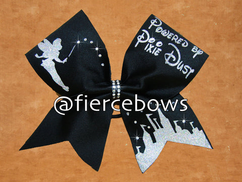 Powered By Pixie Dust® Rhinestone Cheer Bow