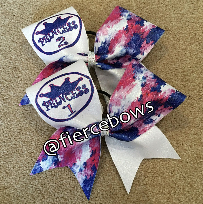Princess 1 and Princess 1 Cheer Bow Set