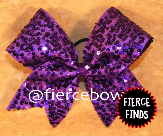 Purple Rain Sequin Bow