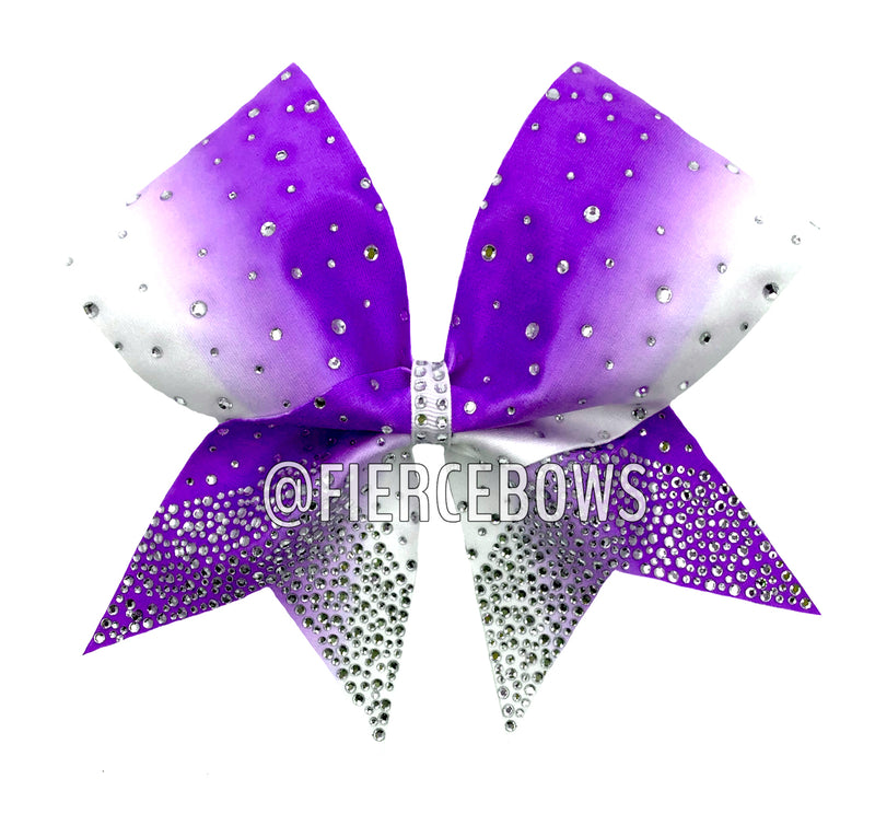 Columbia to White Ombre Rhinestone Bow