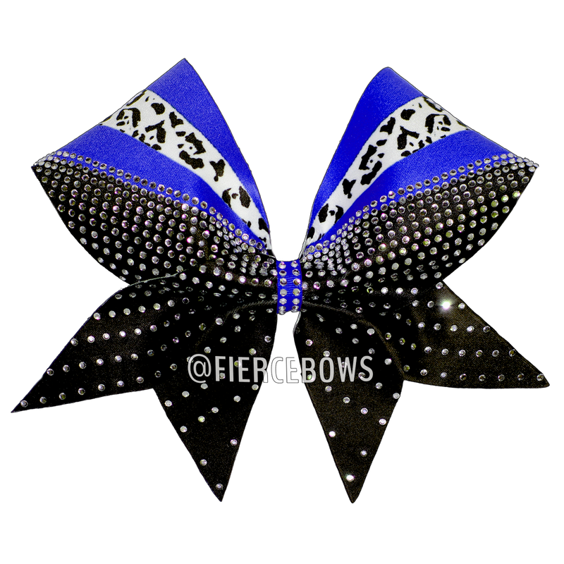 Cheetah Rays of Color Rhinestone Cheer Bow