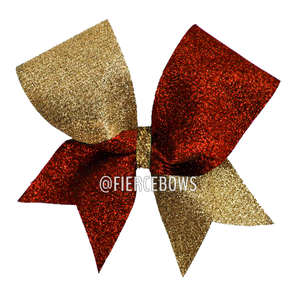 Two Color Glitter Tick Tock Bow