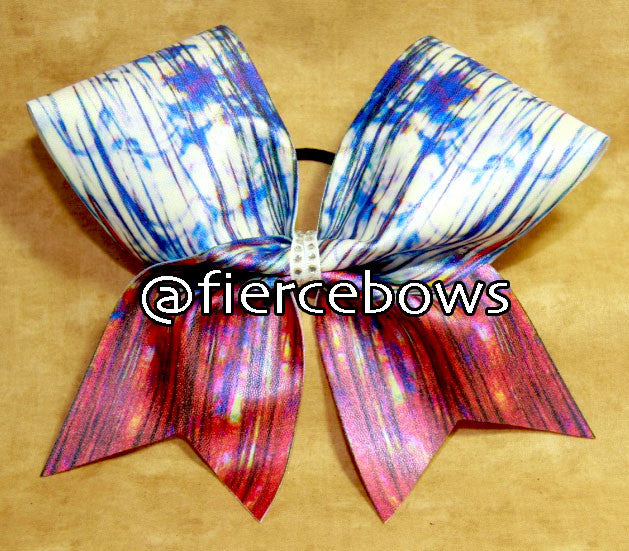 Red, White and Blue-tiful Cheer Bow