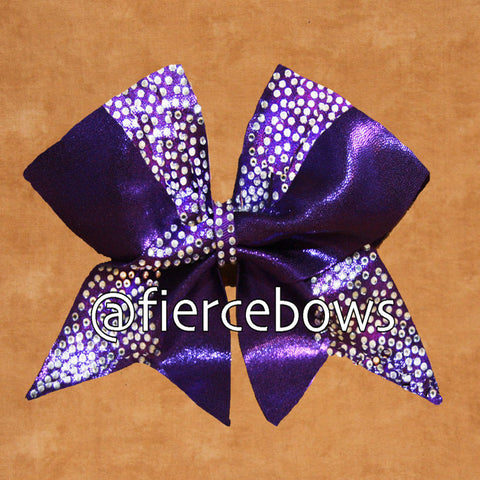 Regal Cross Rhinestone Cheer Bow