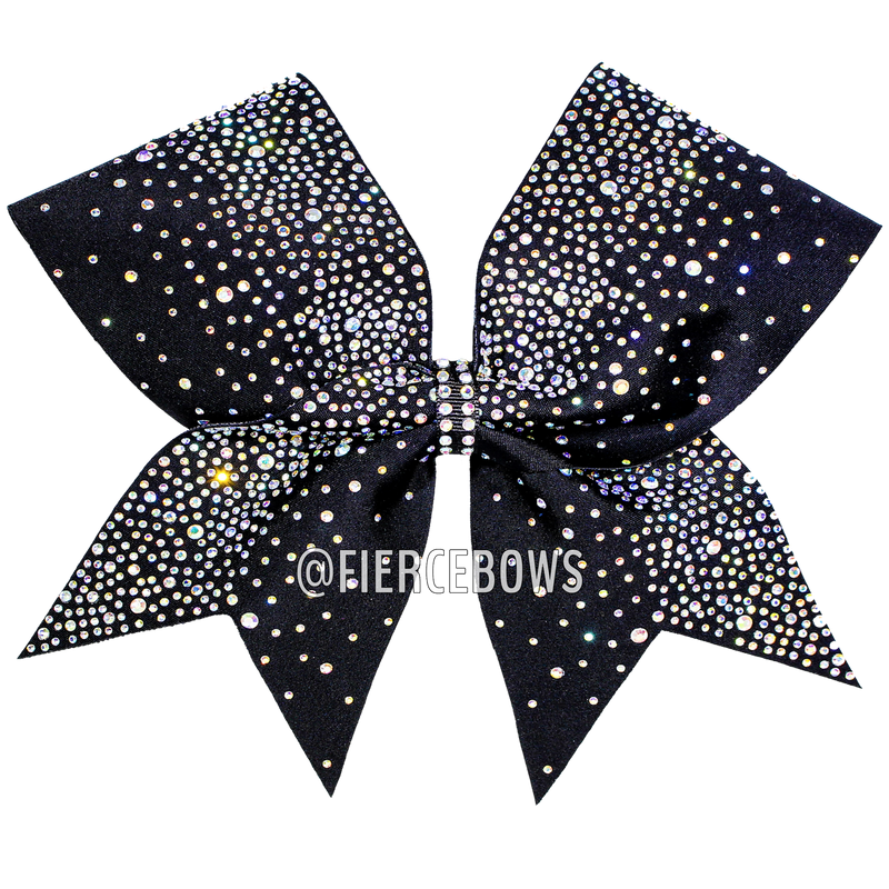Purple and Silver Sequin Cheer Bow