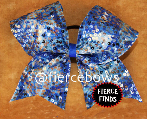 "Royal ""Rain"" Style Sequin Cheer Bow"