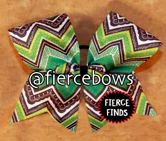 Shades of Green Sublimated Ombre Bow