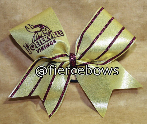Simple Game Day or Practice Glitter Cheer Bow
