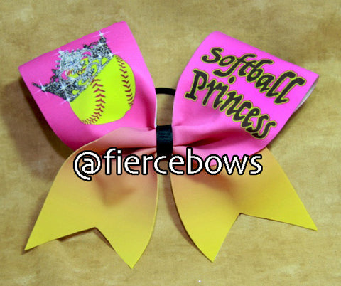 Softball Princess Bow