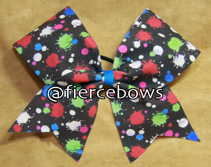 Splatter Polka Dot Cheer Bow