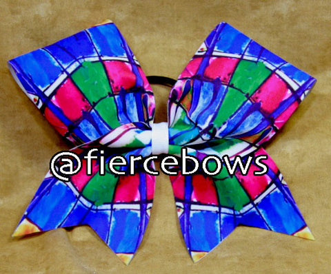 Stained Glass Cheer Bow