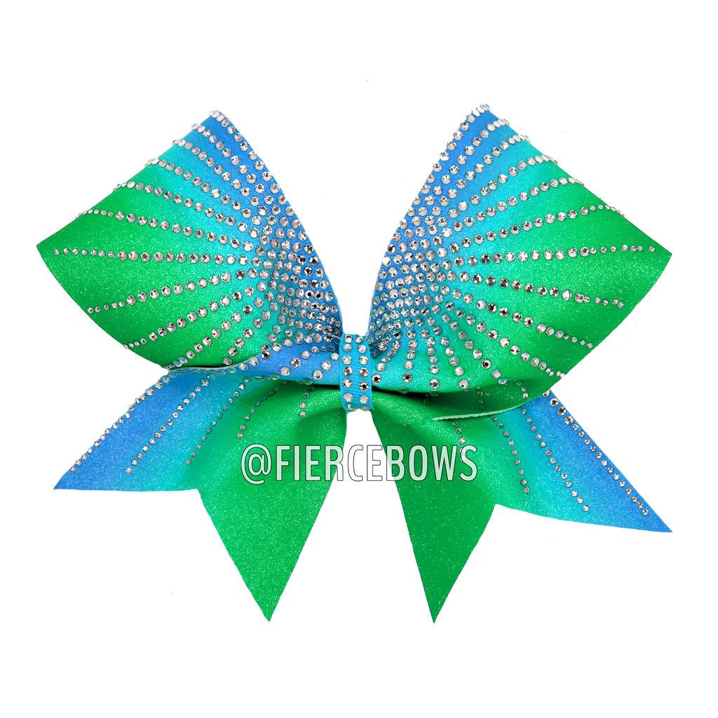 Summer Sun Ombre Rhinestone Cheer Bow