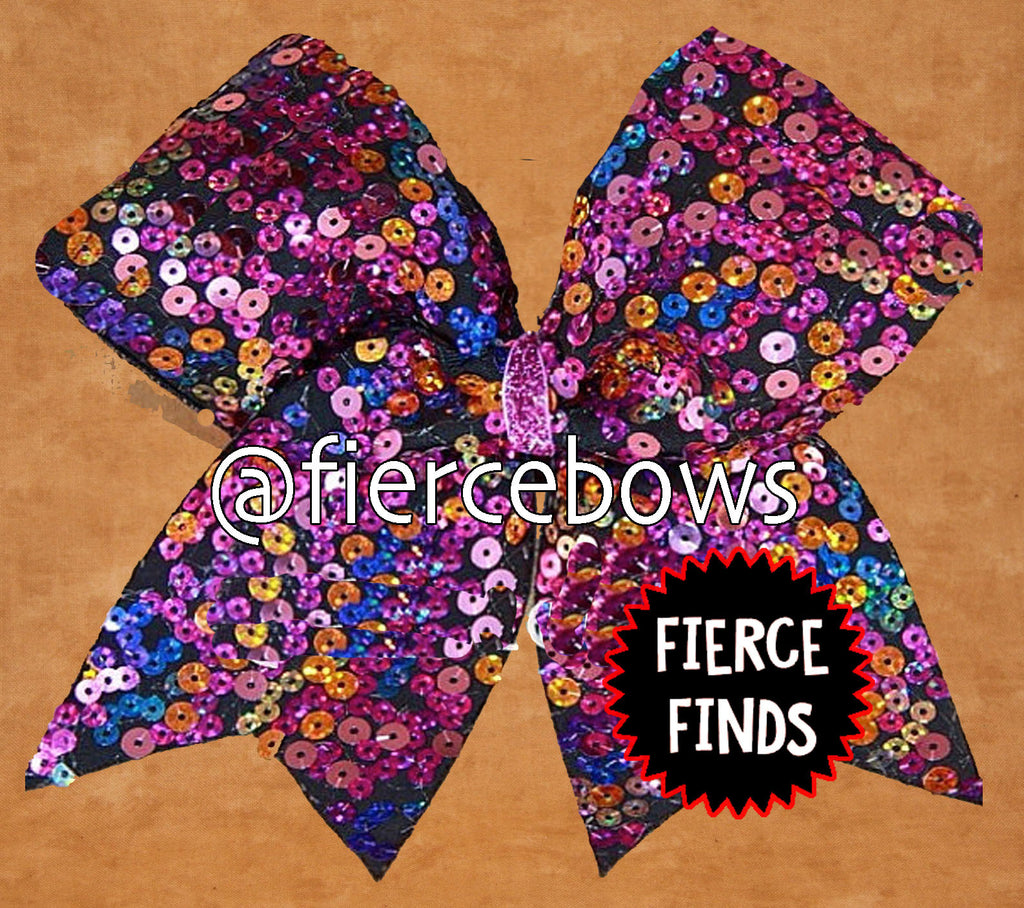Sunset Sequin Cheer Bow