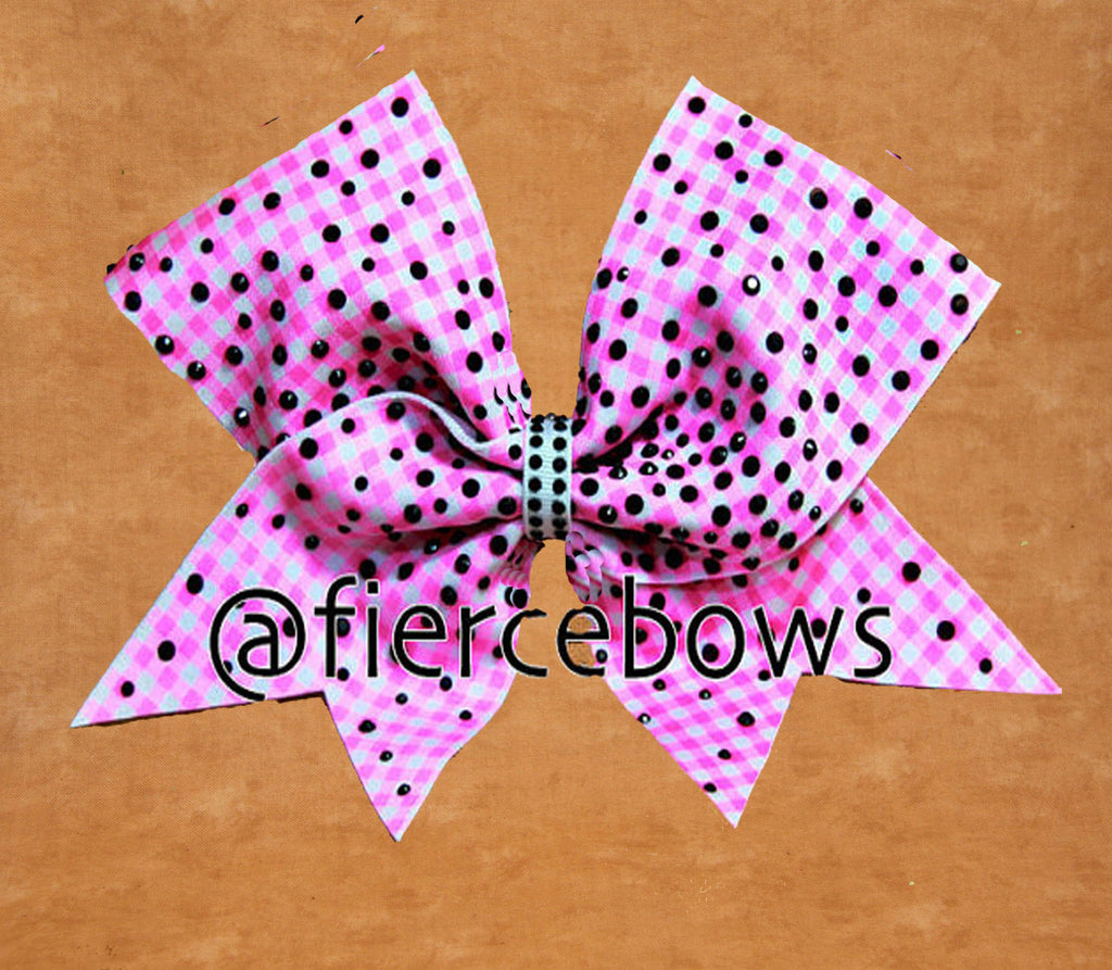 Sweet Adeline Rhinestone Cheer Bow