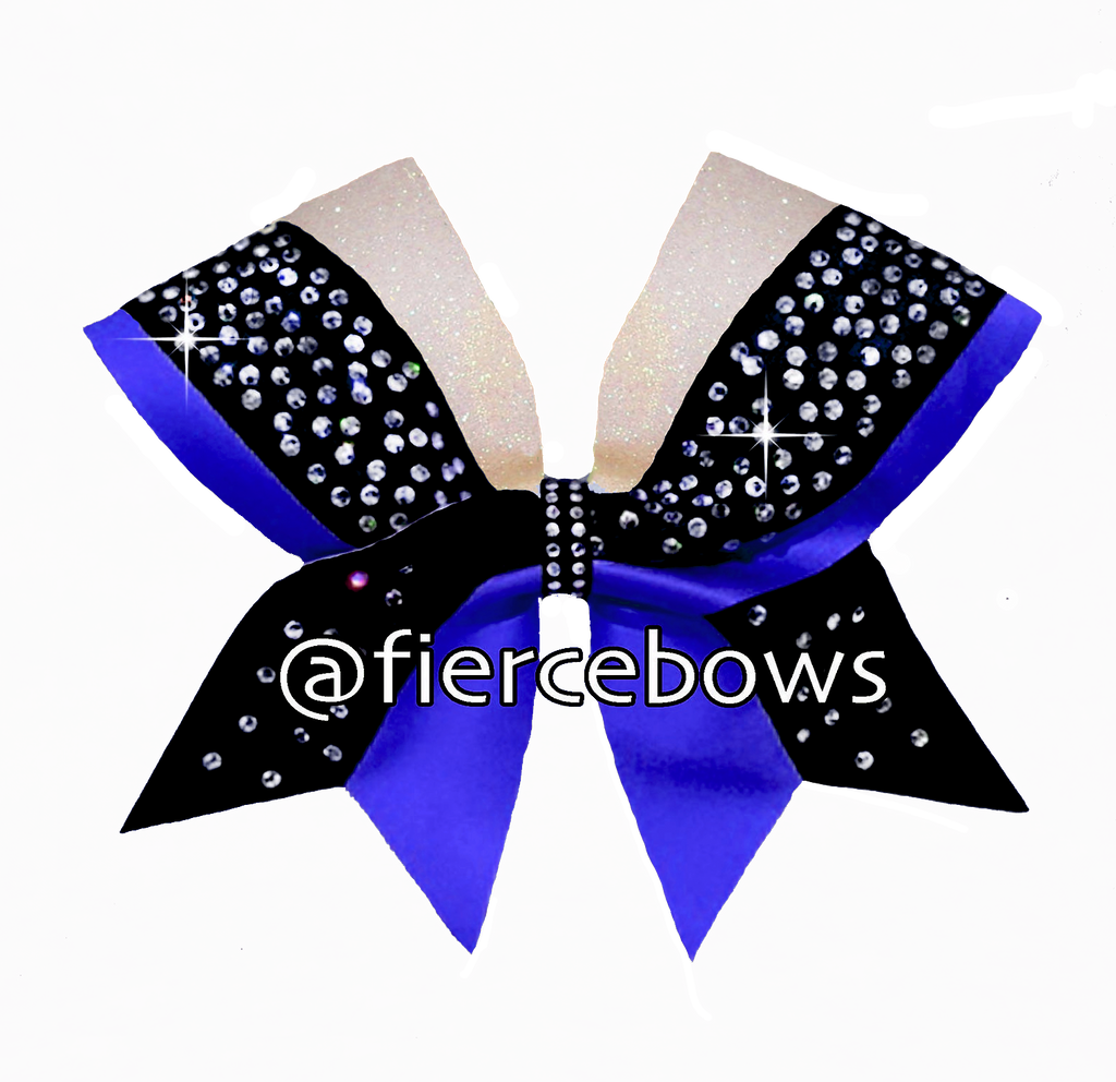 Triple Play Rhinestone and Glitter Bow