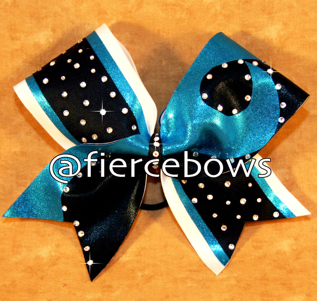 Tilt A Whirl Customizable Rhinestone Cheer Bow