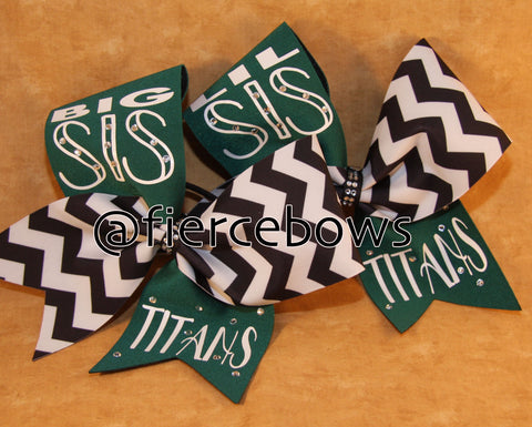 Big Sis/Lil Sis Chevron Set - Choose Your Color