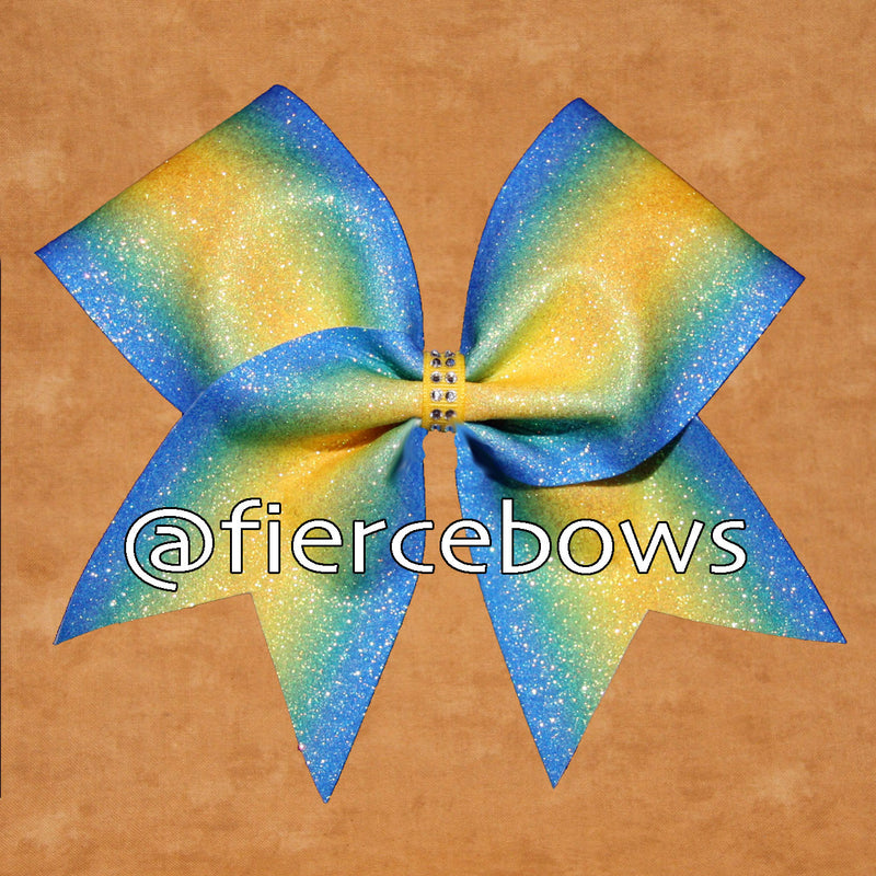 Ray of Sunshine Ombre Glitter Bow