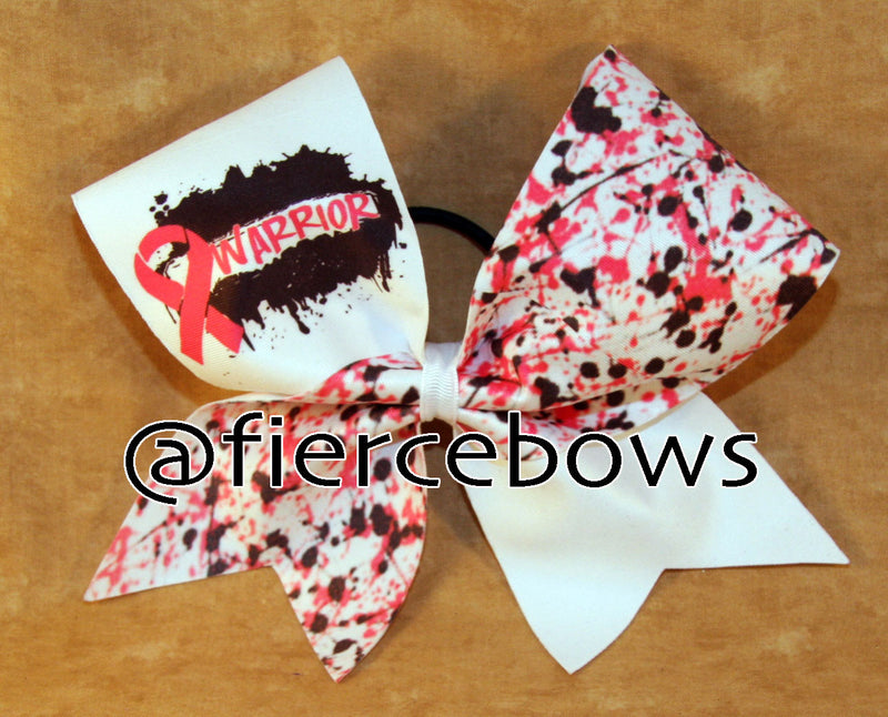Warrior Breast Cancer Awareness Bow