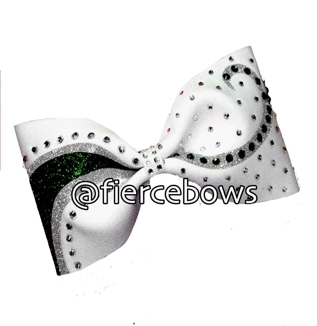 What A Girl Wants Glitter and Rhinestone Tailless Bow