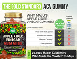 MAJU's Apple Cider Vinegar Gummies, 1000mg - Maju Superfoods
