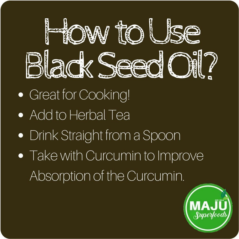 Black Seed Oil - Cold-Pressed, No Pesticides, 1.5%+ Thymoquinone - Maju Superfoods