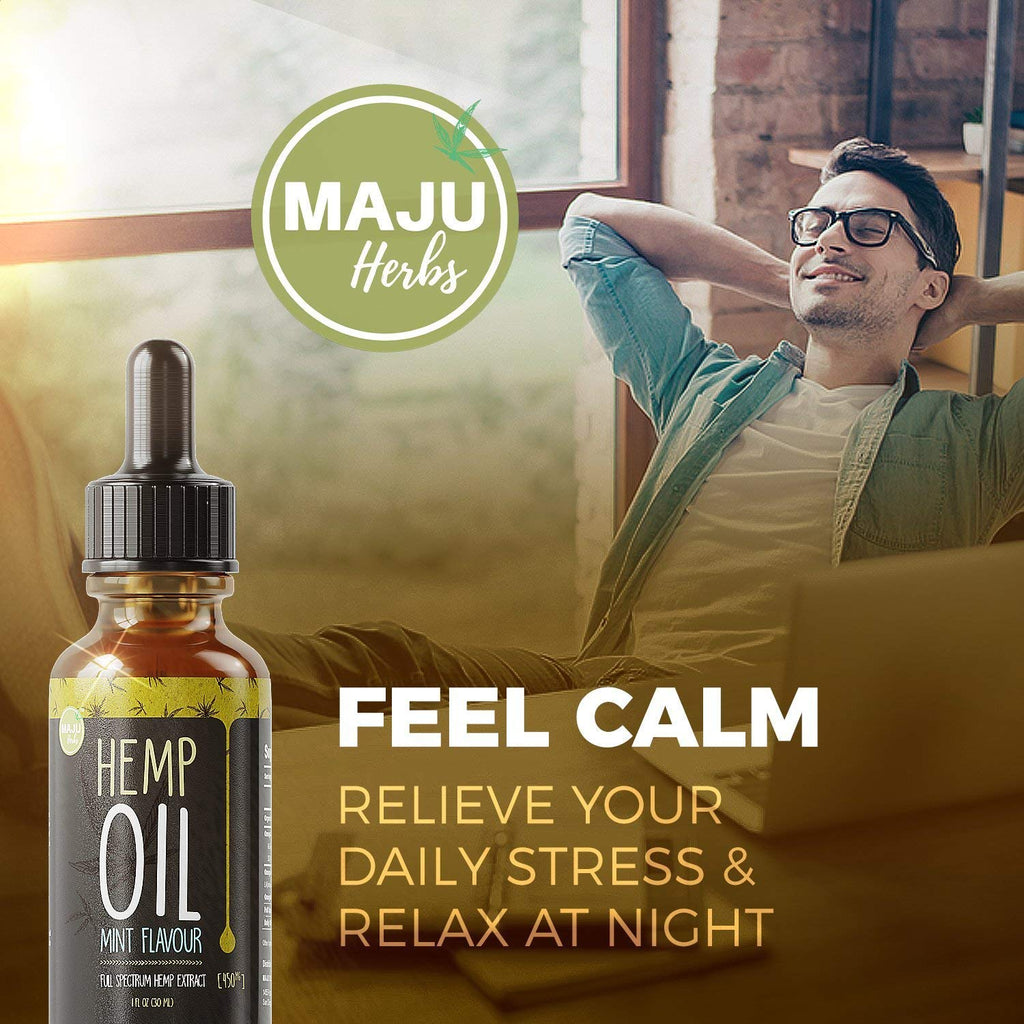 Full Spectrum Hemp Oil Extract for Pain and Anxiety, Mint