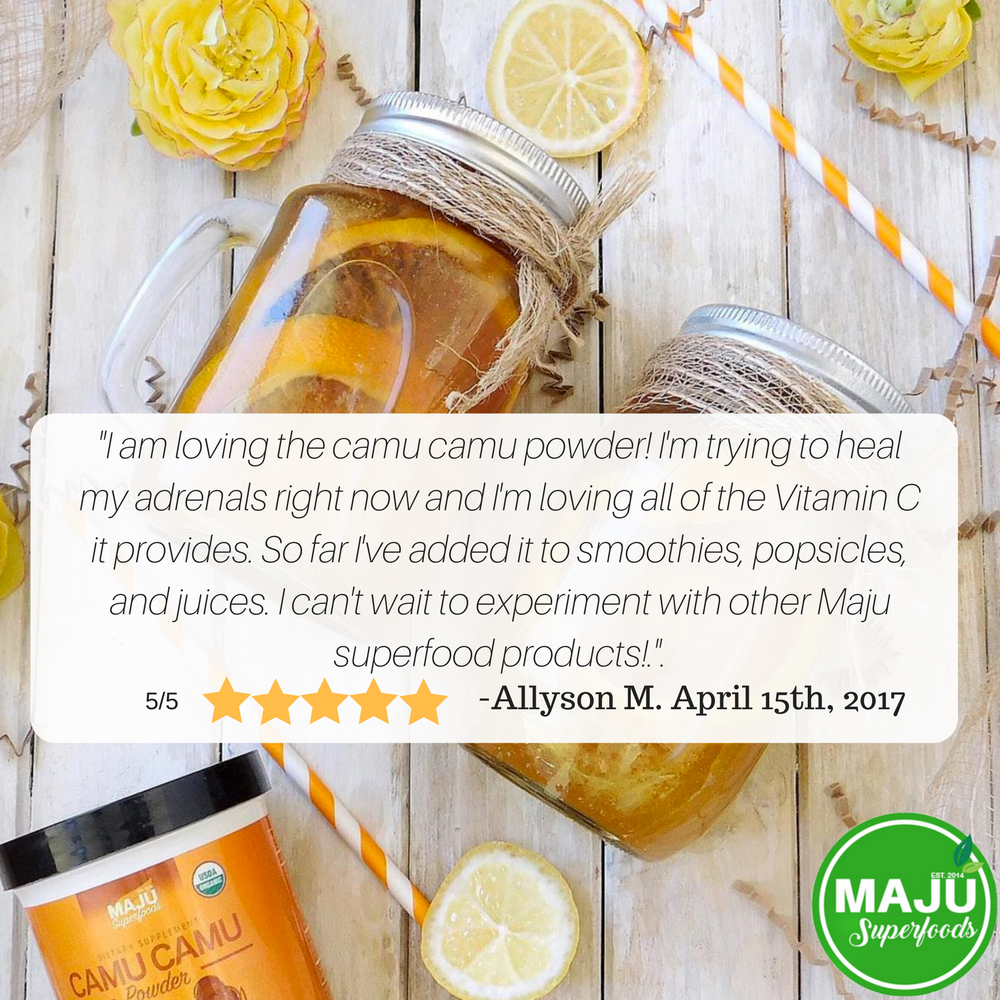 MAJU™ Organic Camu Camu Powder: From Peru, Pure, 100% Raw - Maju Superfoods