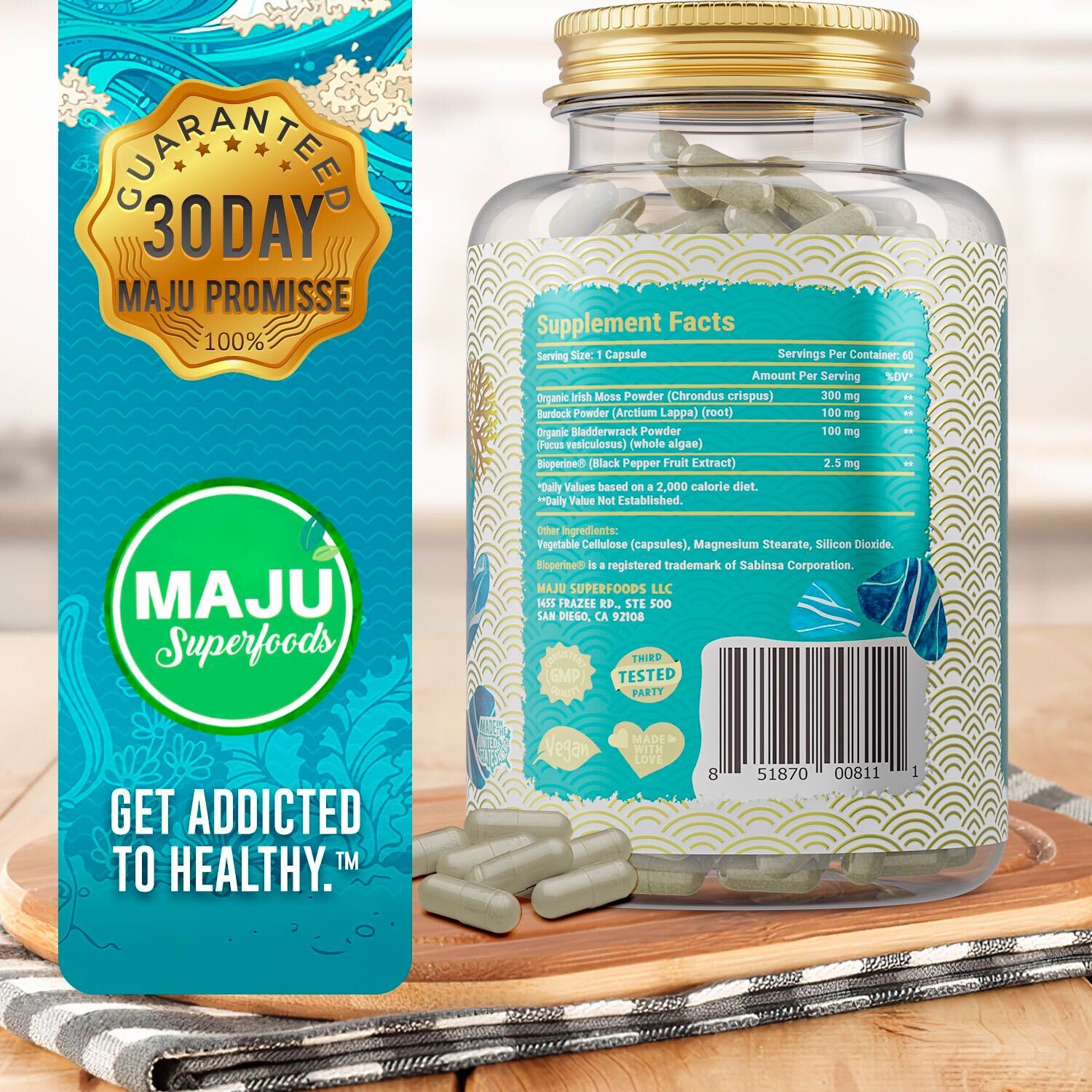 MAJU Sea Moss Capsules - Maju Superfoods