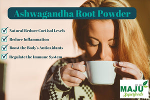 MAJU™ Organic Ashwagandha Root Powder - Maju Superfoods