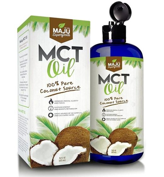 MAJU's MCT Oil: 100% Coconut, Great in Coffee, C8 and C10 Fatty Acids - Maju Superfoods