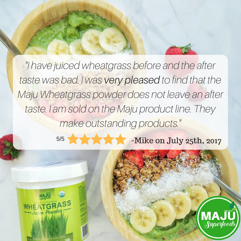 MAJU's Organic Wheatgrass Juice Powder - Maju Superfoods