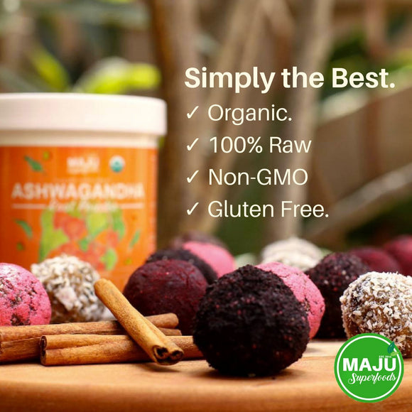 Organic Ashwagandha Root Powder: Reduce Stress, Improve Mood, Reduce Inflammation - Maju Superfoods