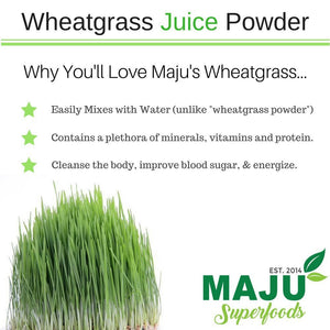 MAJU™ Organic Wheatgrass Juice Powder - Maju Superfoods