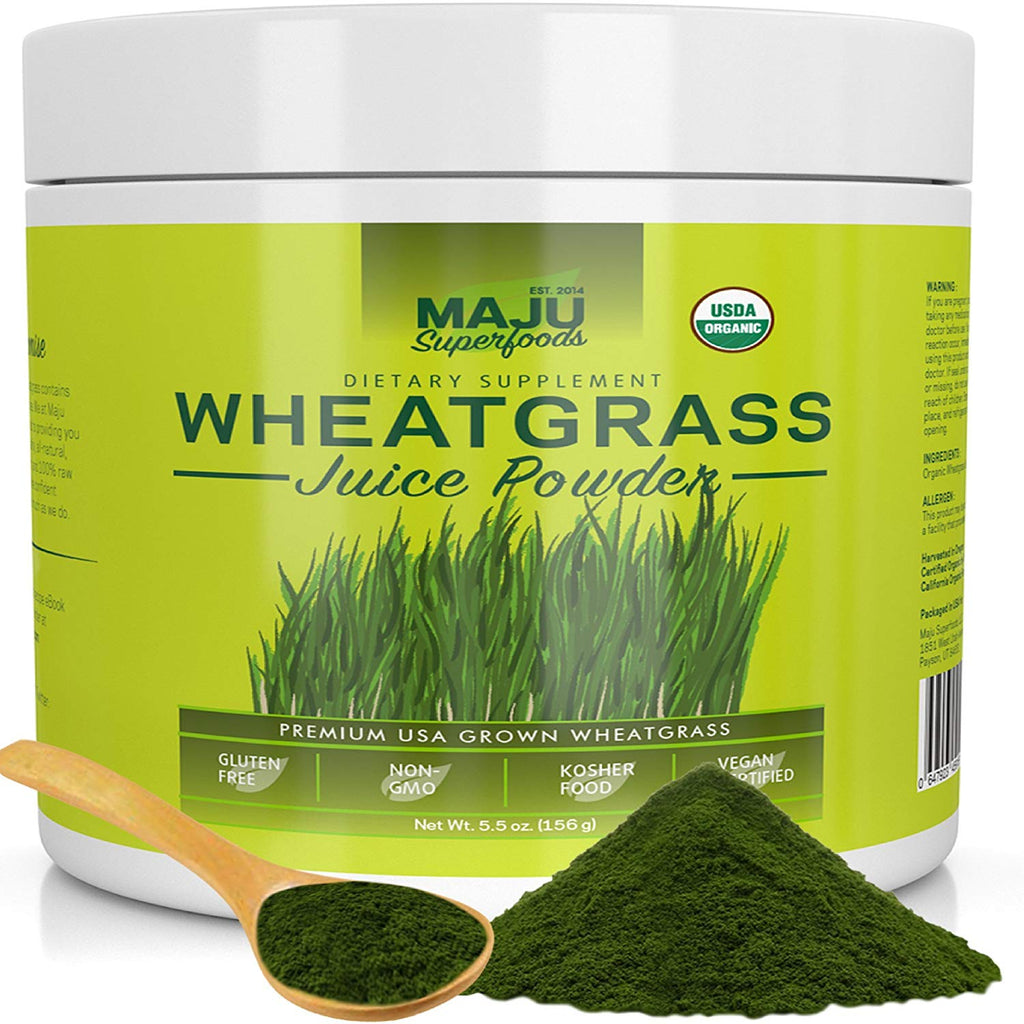 MAJU Organic Wheatgrass Juice Powder - Maju Superfoods